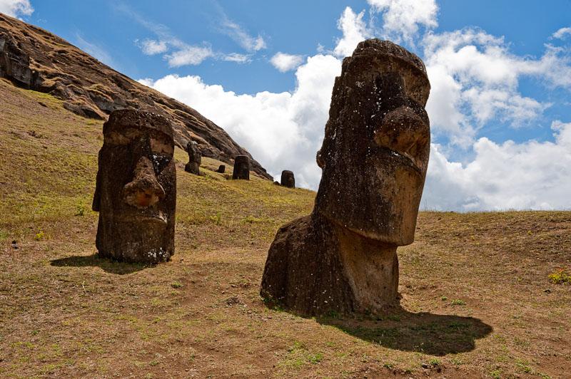 Moai's auf den Osterinseln