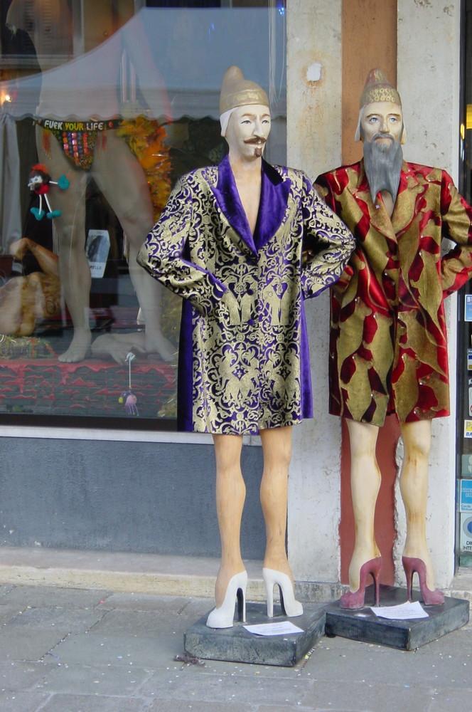 Mode an Karneval in Venedig