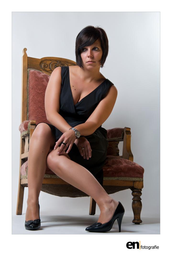 Model Kathi im Studio