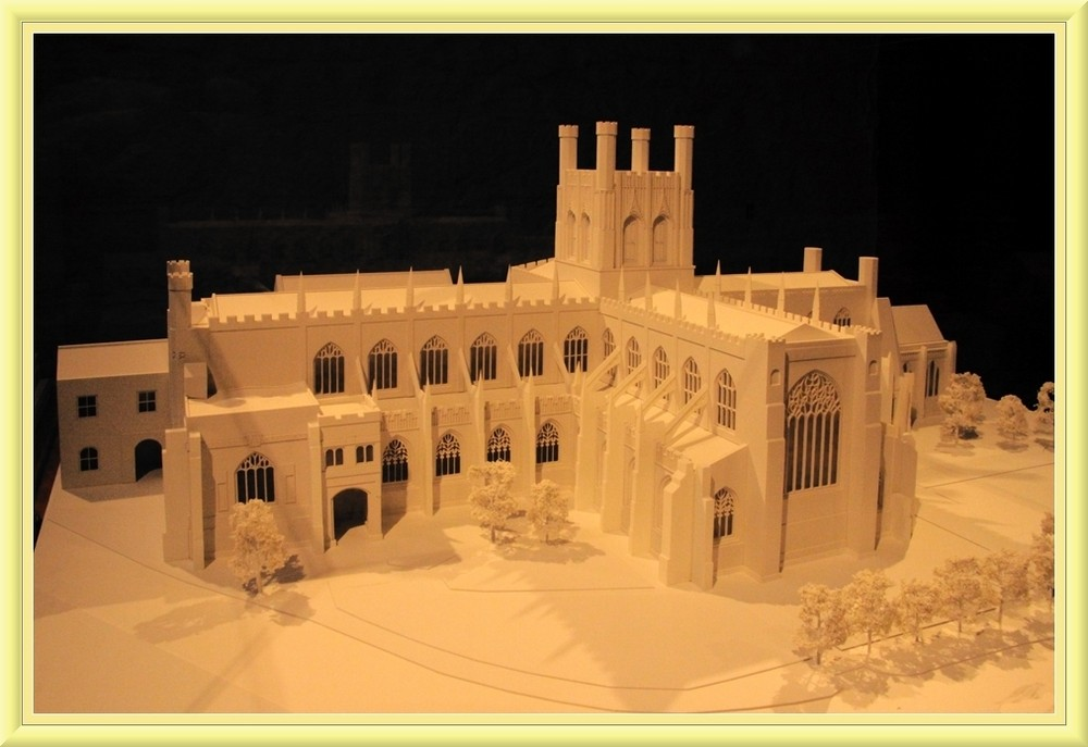 model of the cathedral of Chester