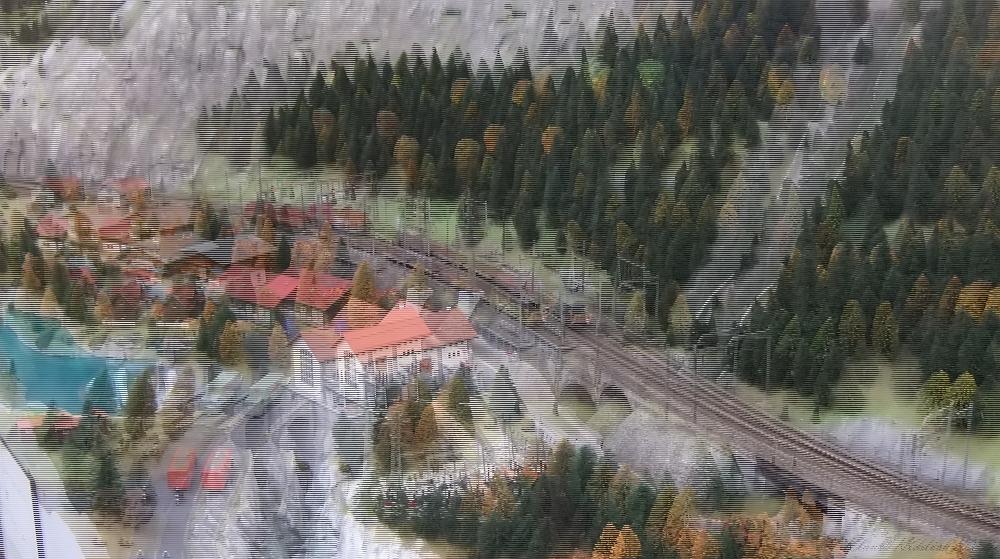 Modell der Gotthardnordrampe in TT für 3D Polaristionsmonitore