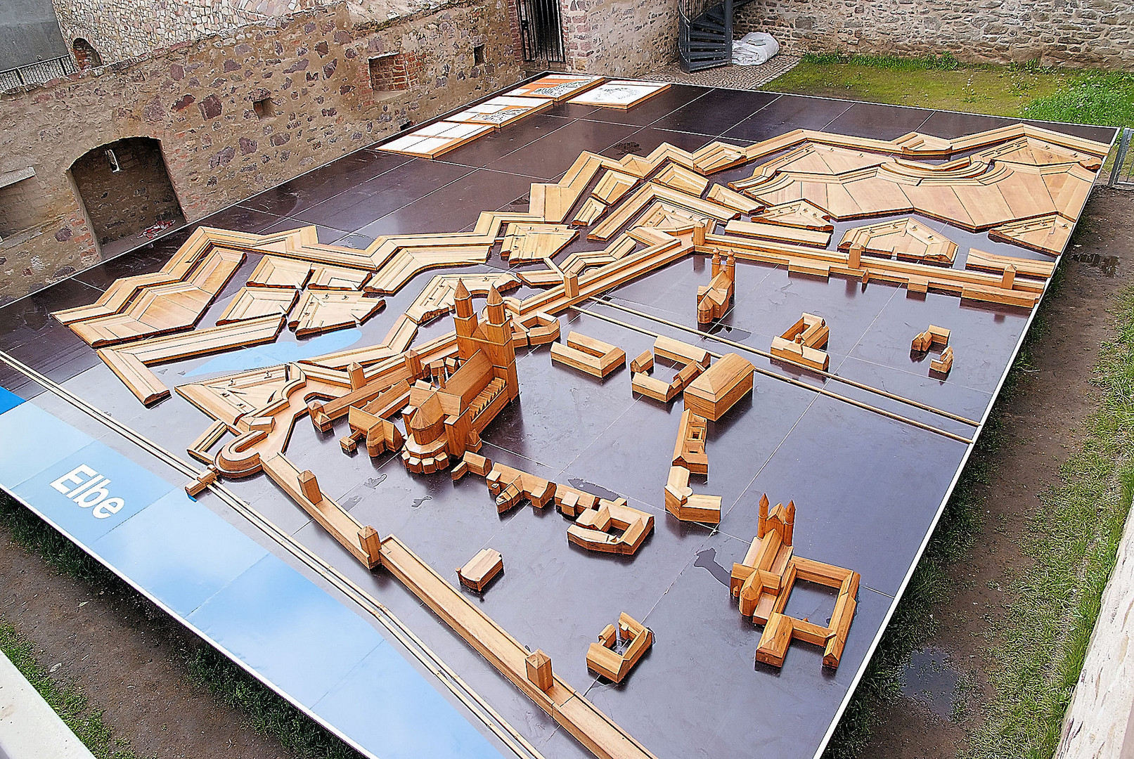 Modell der Zitadelle Magdeburg