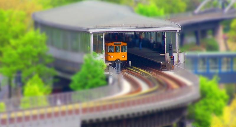 Modell-U-Bahnhof