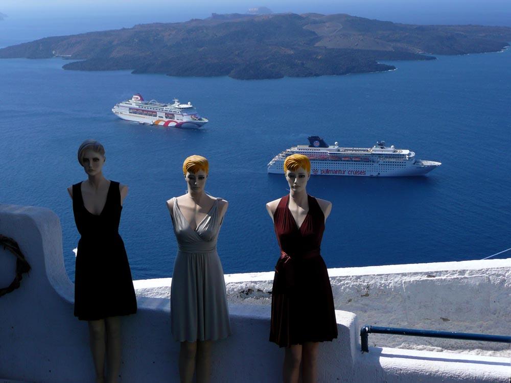 Modelle del mar Egeo Santorini (Grecia)