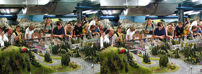 Modelleisenbahnanlage, Speicherstadt Hamburg