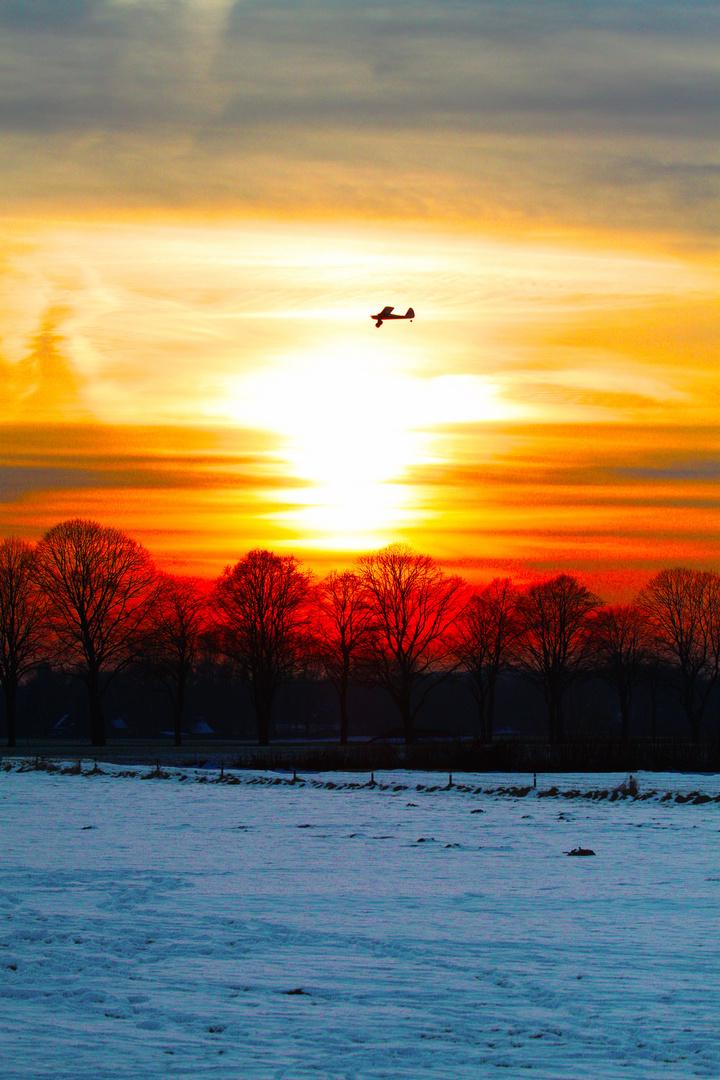 Modellflug im Winter
