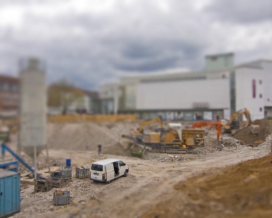 (MODELL)Welten 1:1 Baustelle Leverkusen