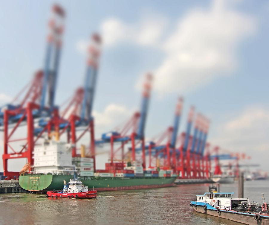 (MODELL)Welten 1:1 Hamburger Hafen