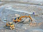 (MODELL)Welten 1:1 Hilfsgeräteeinsatz im Tagebau