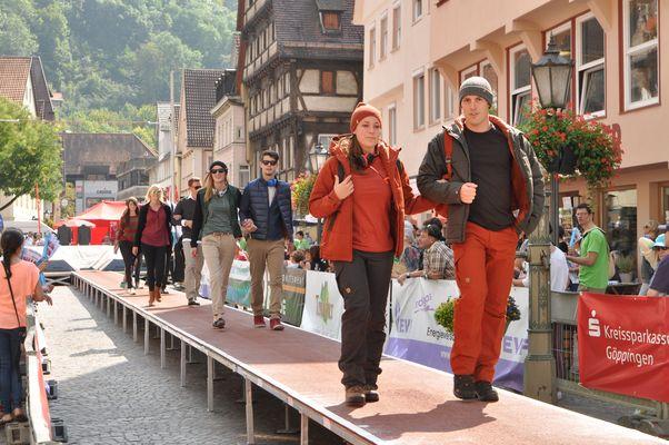 Modenschau in Geislingen an der Steige, Mode von Hoch Bekleidung