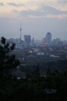 modern Beijing from Coal Hill