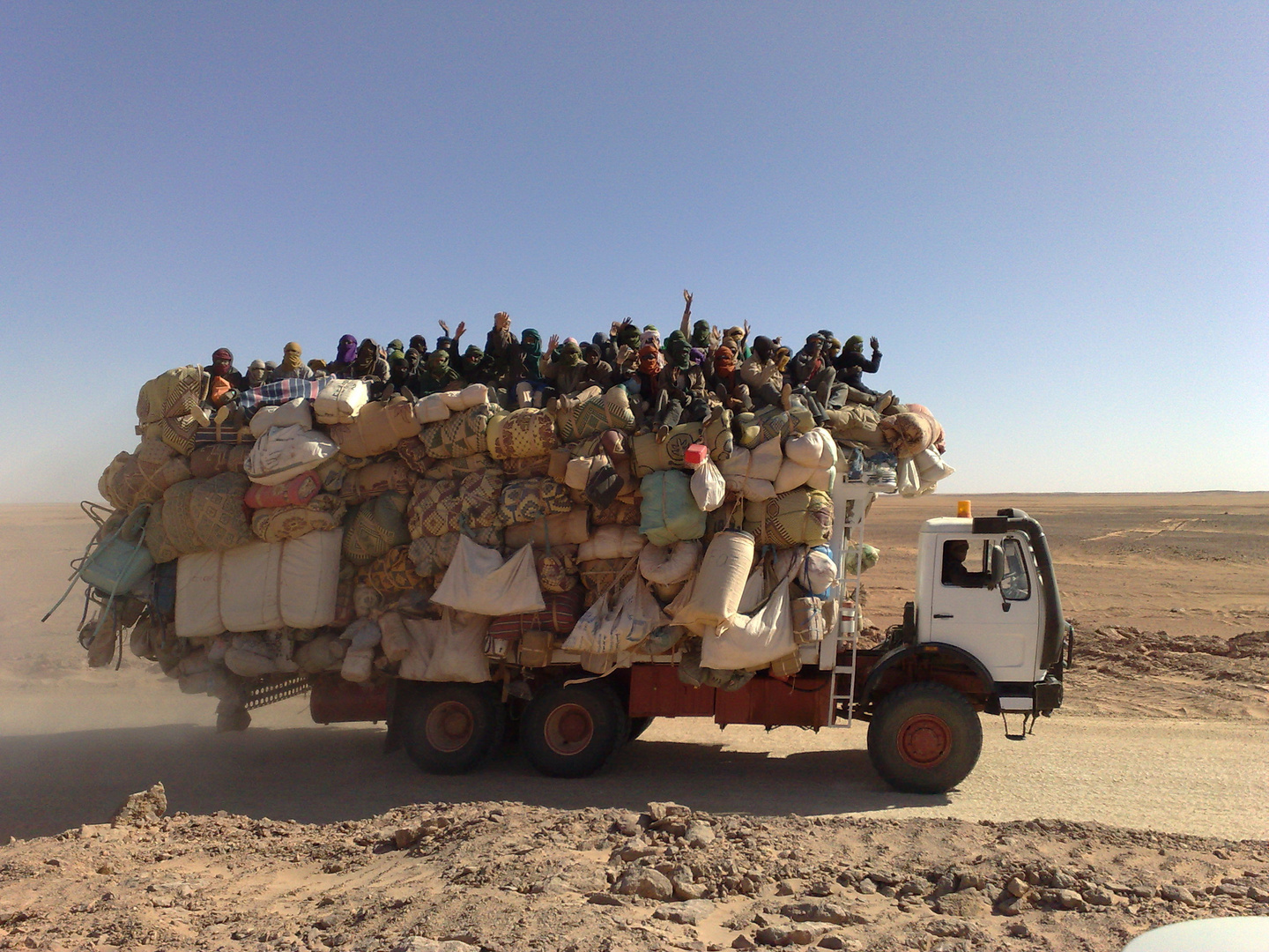 modern truck travel in libya