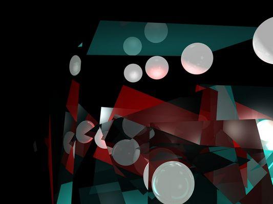 Moderne Kunst mit Spiegelungen