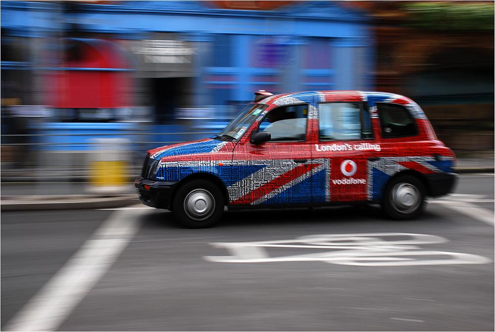 Modernes Londoner Taxi