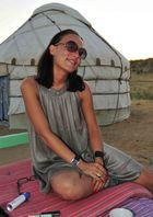 Modeschau in der Wüste Kysylkum