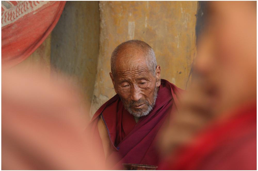 Mönch aus dem Kloster Phuktal