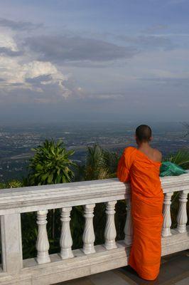 Mönch in Chiang Mai (Bergtempel)