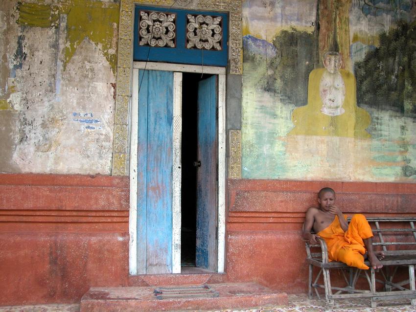 Mönch in Kambodscha