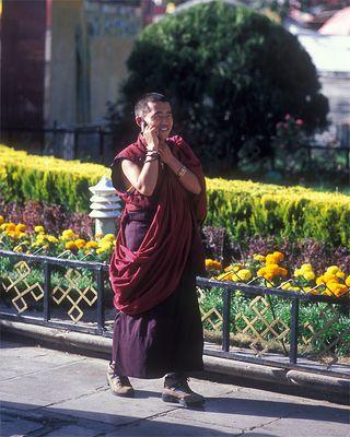 Mönch in Lhasa