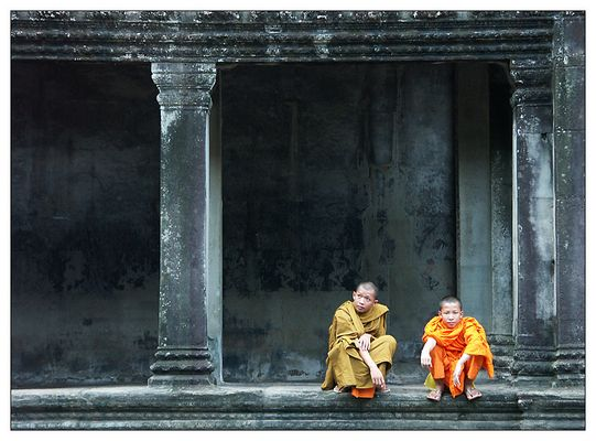 Mönche in Angkor Wat (II) - Siem Reap, Kambodscha