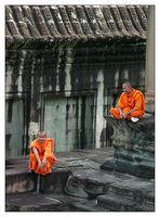 Mönche in Angkor Wat - Siem Reap, Kambodscha