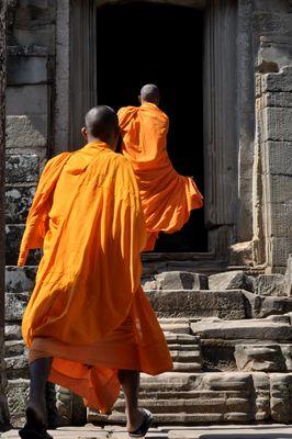 Mönche in Cambodia (Kambodscha)