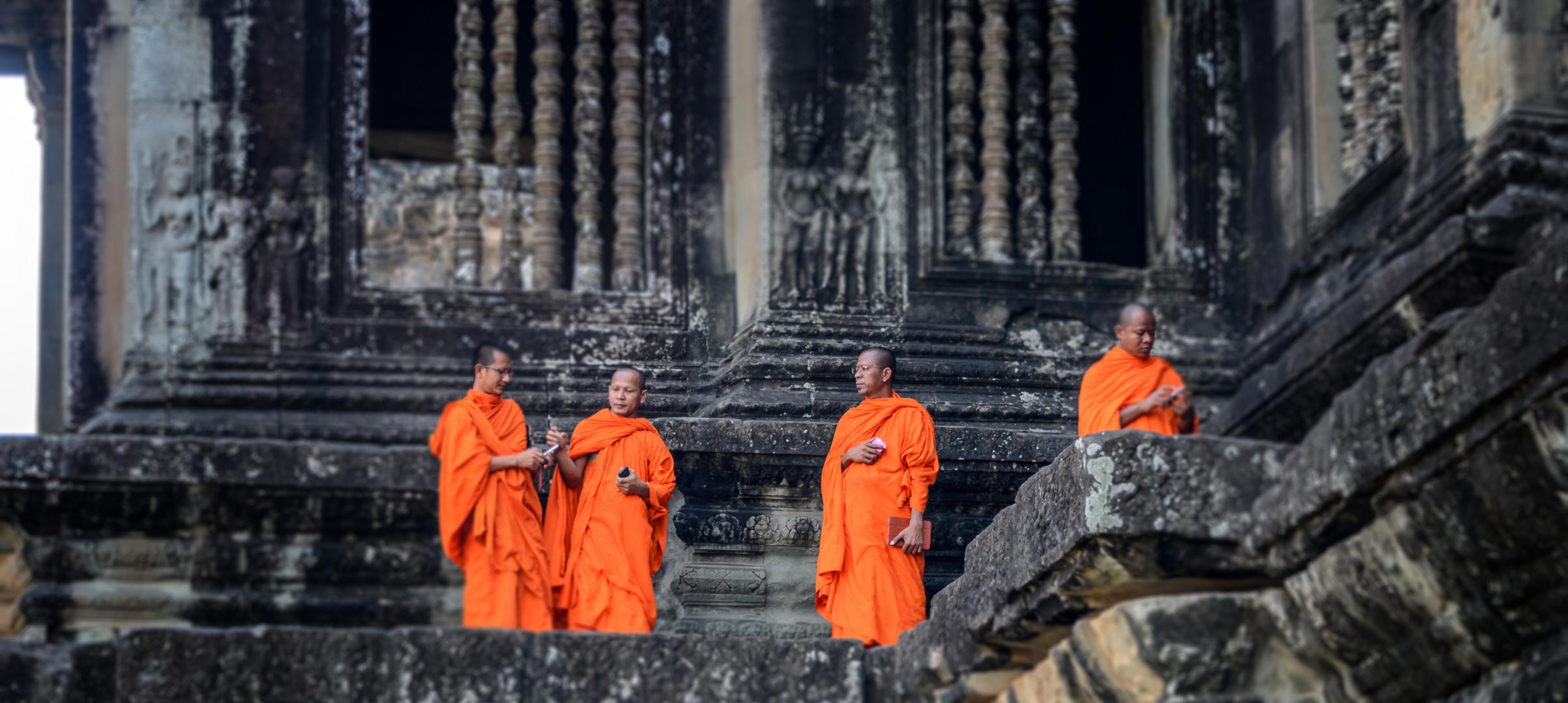 Mönche und die Technik