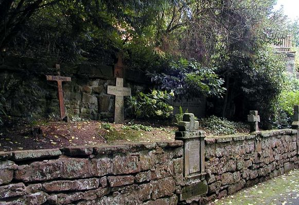 Mönchsfriedhof in St.Gangolf (b.Mettlach)