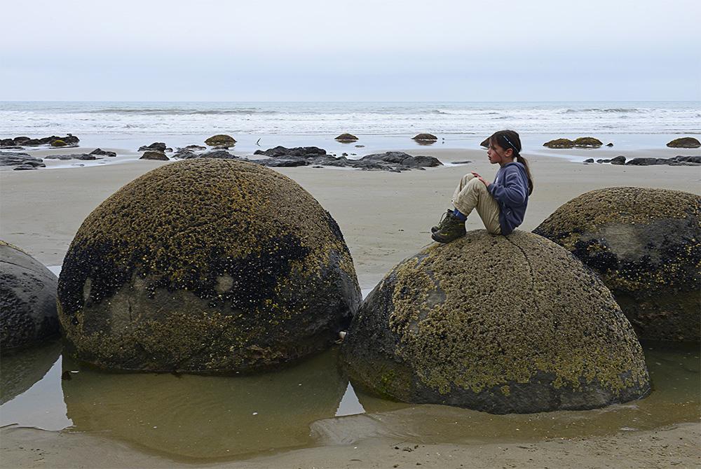 Moeraki Boulders an der Ostküste