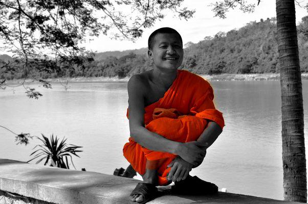 Moine à Luang Prabang - Laos