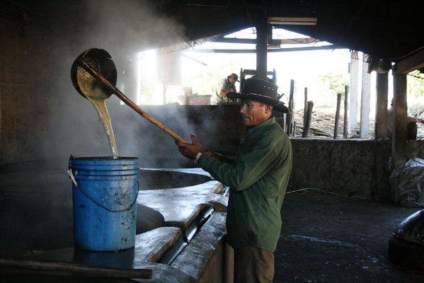 Molienda de caña de azucar, El Salvador