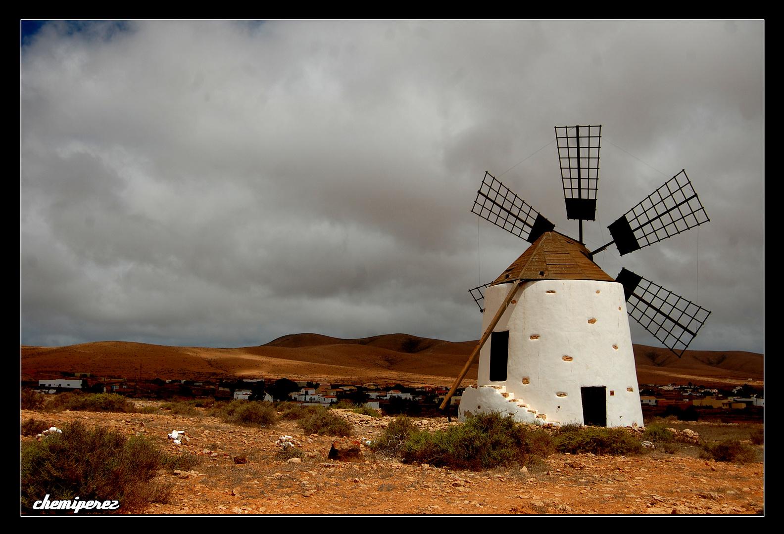 Molino en Valle de Santa Inés, Fuerteventura.