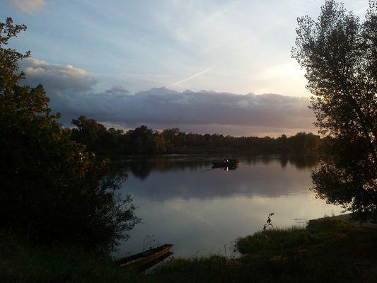 Moment calme sur la Loire
