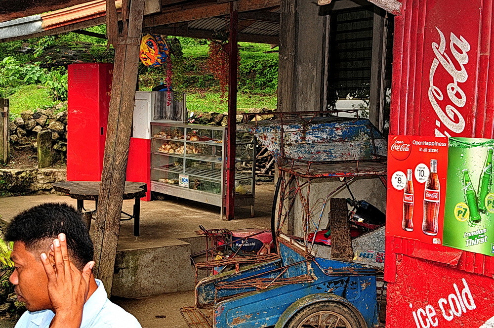 """"""" Momentaufnahme aus dem Bus """" , zwischen Kalibo und Iloilo -Aklan - Panay 2009"""