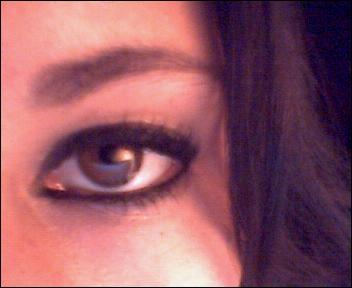mon narcissisme au niveau de mes yeux...