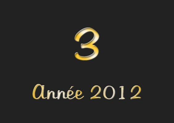 Mon Top 3 pour 2012