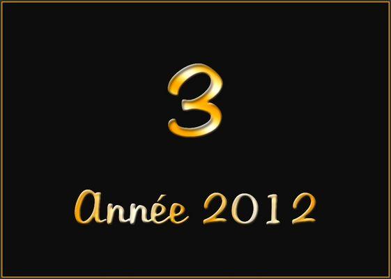 mon top trois 2012