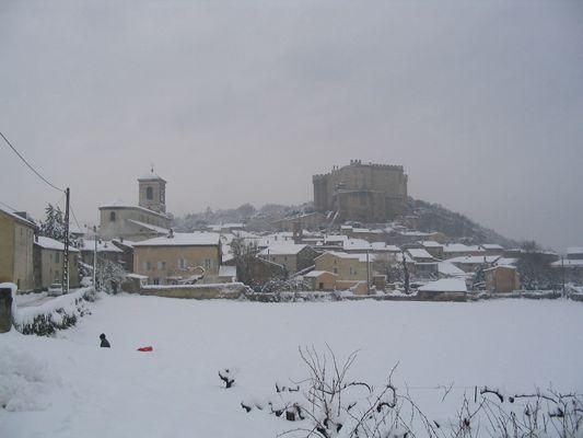 Mon village sous la neige : Suze-la-Rousse