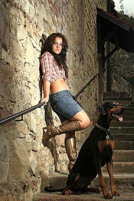 Mona mit Hund