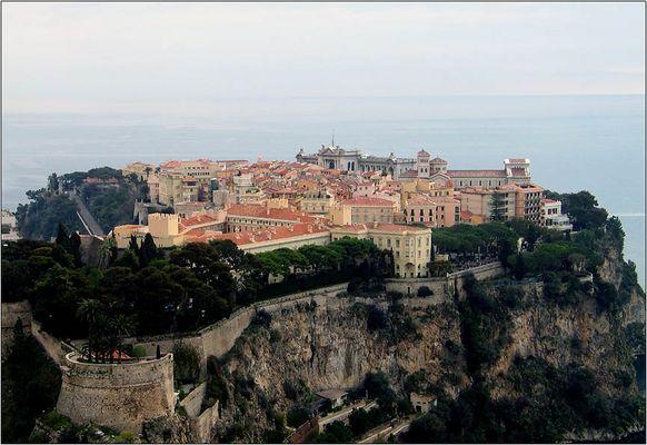 Monaco, Felsen mit Schloß und Kathedrale
