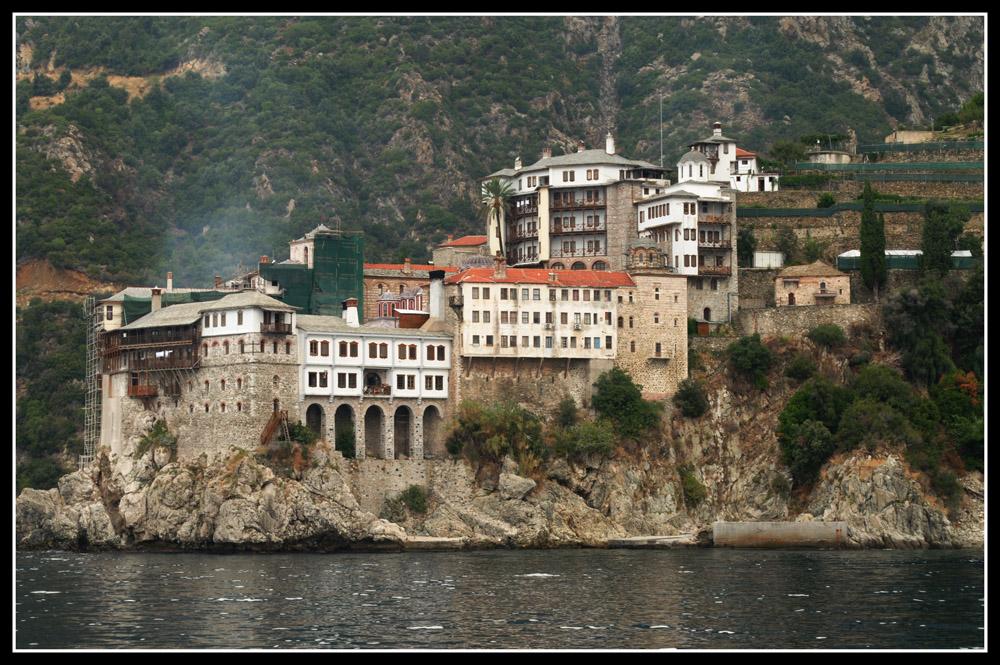 Monasterio en Monte Santo (Agio Oros en griego) en Grecia