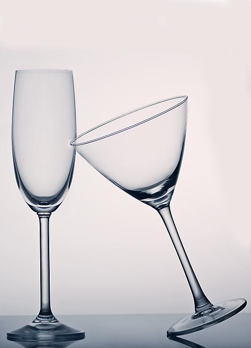 Monatsaufgabe Großbild => Glas auf weiß