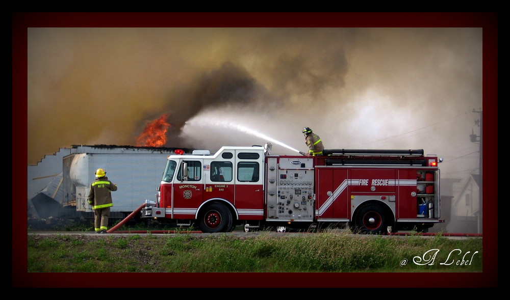 Moncton FD at work.