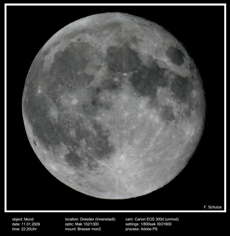 Mond abnehmend