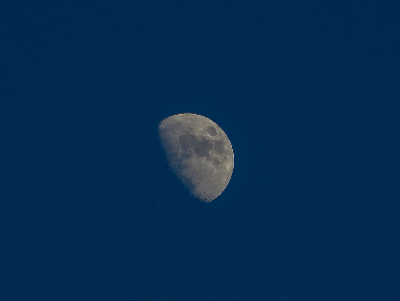 Mond am Abend über Steinhude