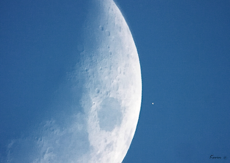 Mond bedeckt Mars
