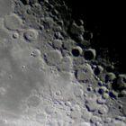 Mond bei 3000 mm Brennweite (Einzelbild)
