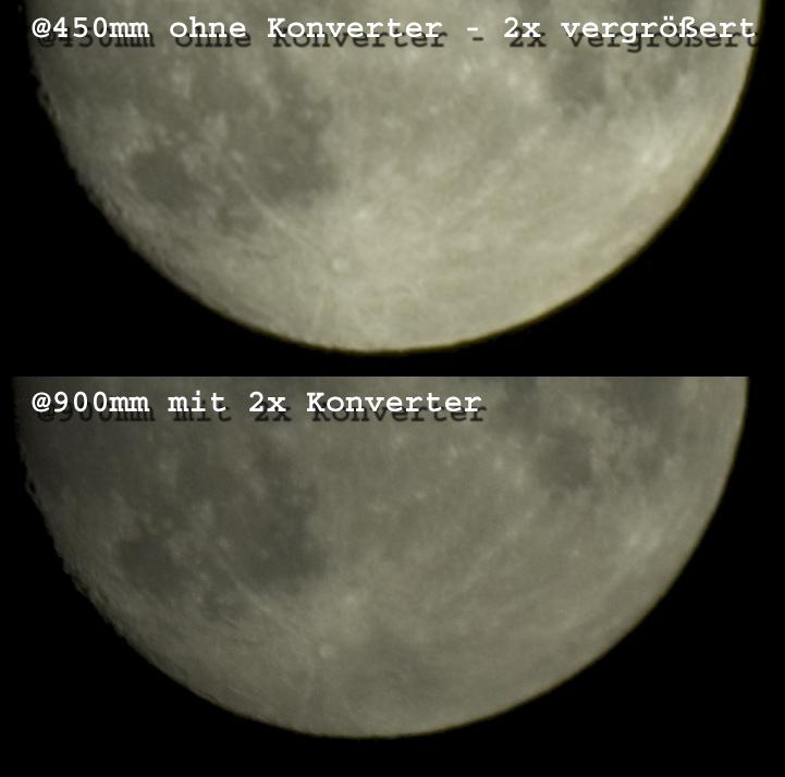 Mond - Experiment: Was bringt der Konverter?