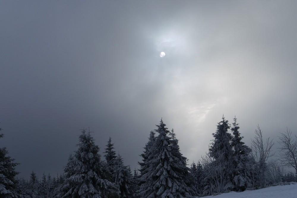 Mond im Harz