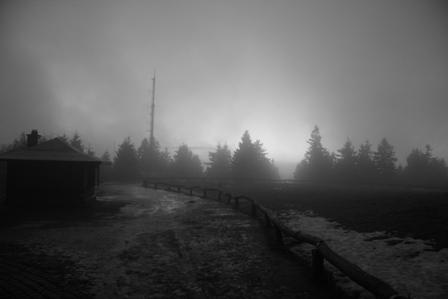 Mond im Nebel